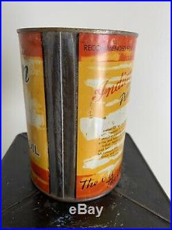 Vintage Indian Motorcycle 1 Quart Oil Can Springfield Mass Scout Chief Prince