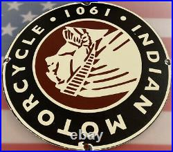 Vintage Indian Motorcycles Porcelain Sign Dealership Gas Oil Harley 1901 Rare
