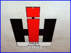Vintage International Harvester Farm Equipment 12 Metal Gasoline & Oil Sign