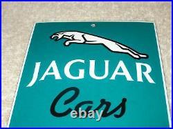 Vintage Jaguar Car Service 6 Porcelain Metal Sports Car Truck Gasoline Oil Sign