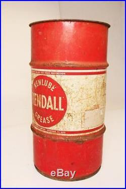 Vintage Kendall Grease Barrel Advertising Metal Trash