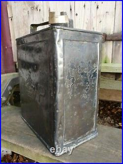 Vintage MP Met Police Rare 2 Gallon Petrol Can Automobilia Collectable Motor Oil