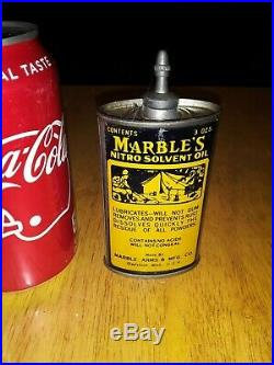Vintage Marbles Handy Oiler Gun oil tin can Camping household oil