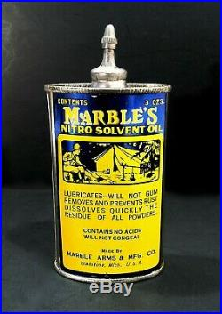 Vintage Marbles Handy Oiler With Camping Graphic Lead Top