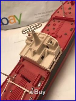 Vintage Marx 1966 Hess Voyager Tanker Ship Toy Boat Model Rare HTF Oil Rig Tank