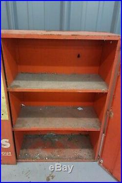 Vintage McCord Oil Seals Metal Wall Cabinet