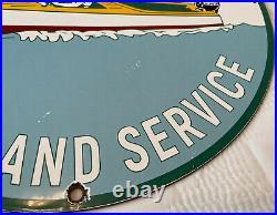 Vintage Mercury Kiekhaefer Porcelain Sign, Gas Station, Pump Plate, Motor Oil