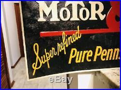 Vintage Metal Sign Vintage Oil Hyvis Motor Oil Sign Hyvis Warren Pa Rare