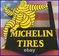 Vintage Michelin Tires Porcelain Sign Bibendum Gas Service Station Motor Oil