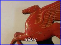 Vintage Mobil Oil Pegasus License Plate Topper