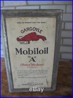 Vintage Mobiloil Gargoyle Oil Can, Mobiloil 5 Gallon Can