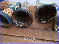 Vintage Neptune Motor Oil bottle top pourer (7 in total)