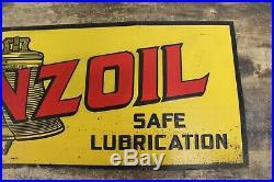 Vintage ORIGINAL PENNZOIL Gas Oil Service Station Sign