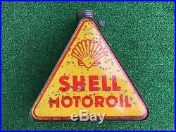 Vintage Oil Can Rare! Never Open! Shell Oil Triangular Can