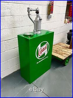 Vintage Oil Pump, Man Cave, Games Room, Castrol Oil, Vintage Garage