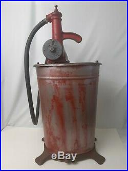 Vintage Oil Pump Unbranded unidentified with nozzle & capacity dial hand pumped