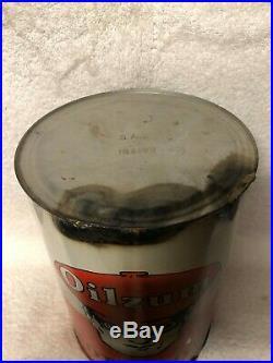Vintage Oilzum Motor Oil Tin 5 Quart Can