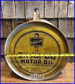 Vintage Original EN-AR-CO Motor Oil National Refining Co. 5 Gallon Rocker Can