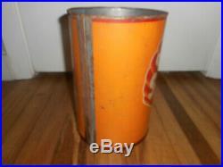 Vintage Original GOLDEN SHELL Motor Oil 5 Quart Tin Can Gas Station Advertising