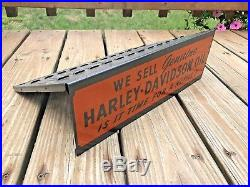 Vintage Original Harley-Davidson Dealer Oil Counter Catalog Display Sign