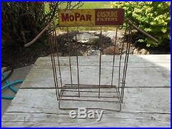 Vintage Original MOPAR Gas Oil Stations FILTERS ADVERTISING DISPLAY RACK SIGN