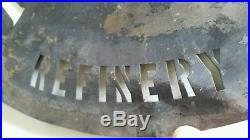 Vintage PENNZOIL BRASS OIL BARREL STENCIL