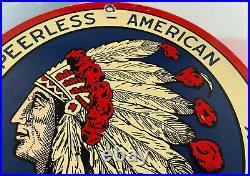 Vintage Peerless American Porcelain Sign Standard Motor Oil Gas Station Pump