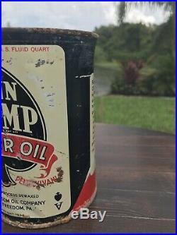 Vintage Penn Trump Freedom Motor Oil Quart Can Qt. Not Gallon Or 5 Quart