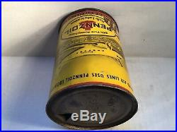 Vintage Pennzoil Oil Can handy household Owl Airplane rare Tin Mopar Ford Oilzum