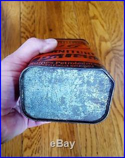 Vintage Phillips 66 Furniture Polish Advertising Tin Qt Size Gas Oil Can