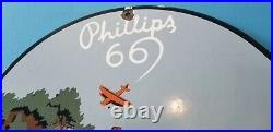 Vintage Phillips 66 Gasoline Porcelain Gas Service Station Oil Rack Pump Sign