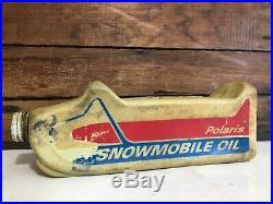 Vintage Polaris Snowmobile Oil Bottle Can Collector Piece RARE