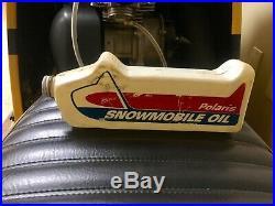 Vintage Polaris Snowmobile Oil Can Bottle