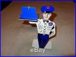 Vintage Pontiac Car & Truck Service 12 Metal Business Card Holder Gas Oil Sign