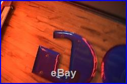 Vintage Porcelain Goodyear Sign Letters & Foot Nice condion Gas Oil Station Adv