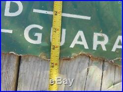 Vintage QUAKER STATE TOMBSTONE Motor Oil DSP Porcelain Lollipop Advertising SIGN