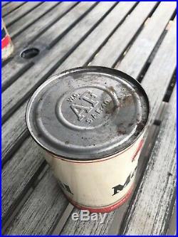 Vintage Quart Gargoyle Mobiloil A Socony Vacuum Mobil Oil Can Metal Full Sealed