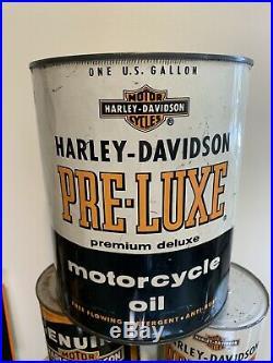 Vintage RARE 1 Gallon HARLEY DAVIDSON Motorcycles Pre-luxe Motor Oil Can Sign