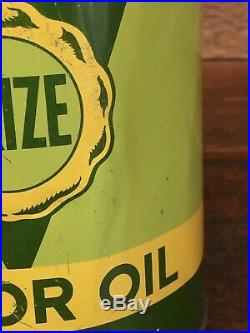 Vintage Rare Deep Rock PRIZE MOTOR OIL QUART Oil Can Metal Oil Can Empty