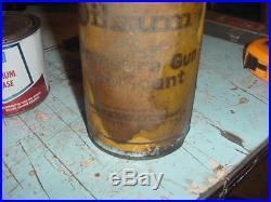 Vintage Rare Oilzum Pressure Gun Lubricant Tin Can Gas/oil Prop Decor 3 Lbs