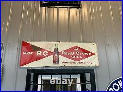Vintage Royal Crown RC Cola Metal Sign GAS OIL SODA 54 X 18