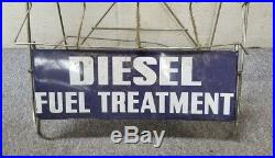 Vintage STP Diesel Fuel Treatment Display Stand Service Station Gas Oil