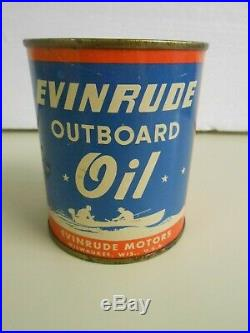 Vintage Scarce Authentic Evinrude Outboard Oil Can 1940s One Pint Empty