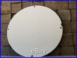 Vintage Shell Gasoline Porcelain 1931 Gas Oil Service Station Pump Plate Sign