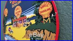 Vintage Shell Gasoline Porcelain 400 Gas Motor Oil Super Service Station Sign