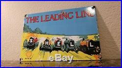 Vintage Shell Gasoline Porcelain Auto Gas Oil Service Station Pump Plate Sign