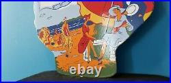Vintage Shell Gasoline Porcelain Clam Shape Roxana Gas & Oil Pump Plate Sign