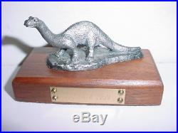 Vintage Sinclair Oil Company Metal Dinosaur Paperweight trophy gas station gift