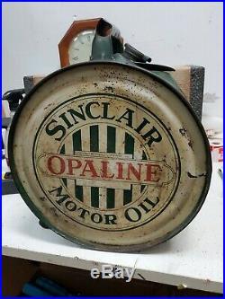 Vintage Sinclair Opaline Motor Oil 5 Gallon Rocker Can St Louis Can Co