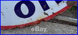 Vintage Standard Oil Co ISO=VIS Motor Oil Indiana Double Sided Sign